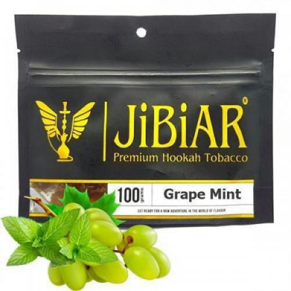 Табак Grape Mint Jibiar 100 Гр Для Кальяна
